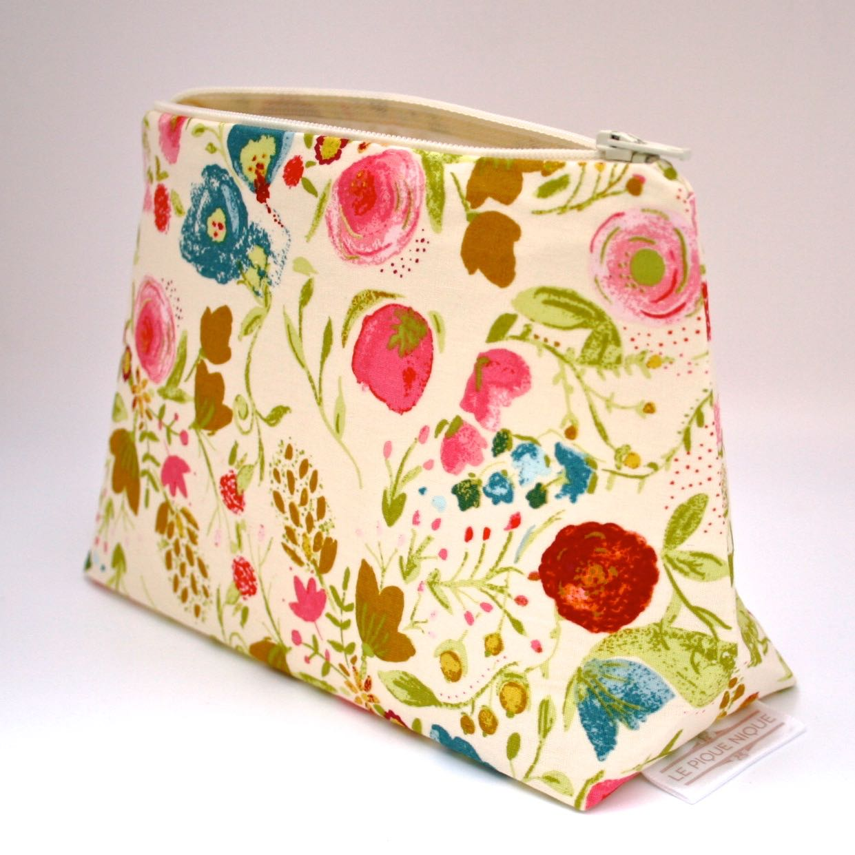Painted garden floral cosmetic bag   le pique nique by jordani sarreal 04