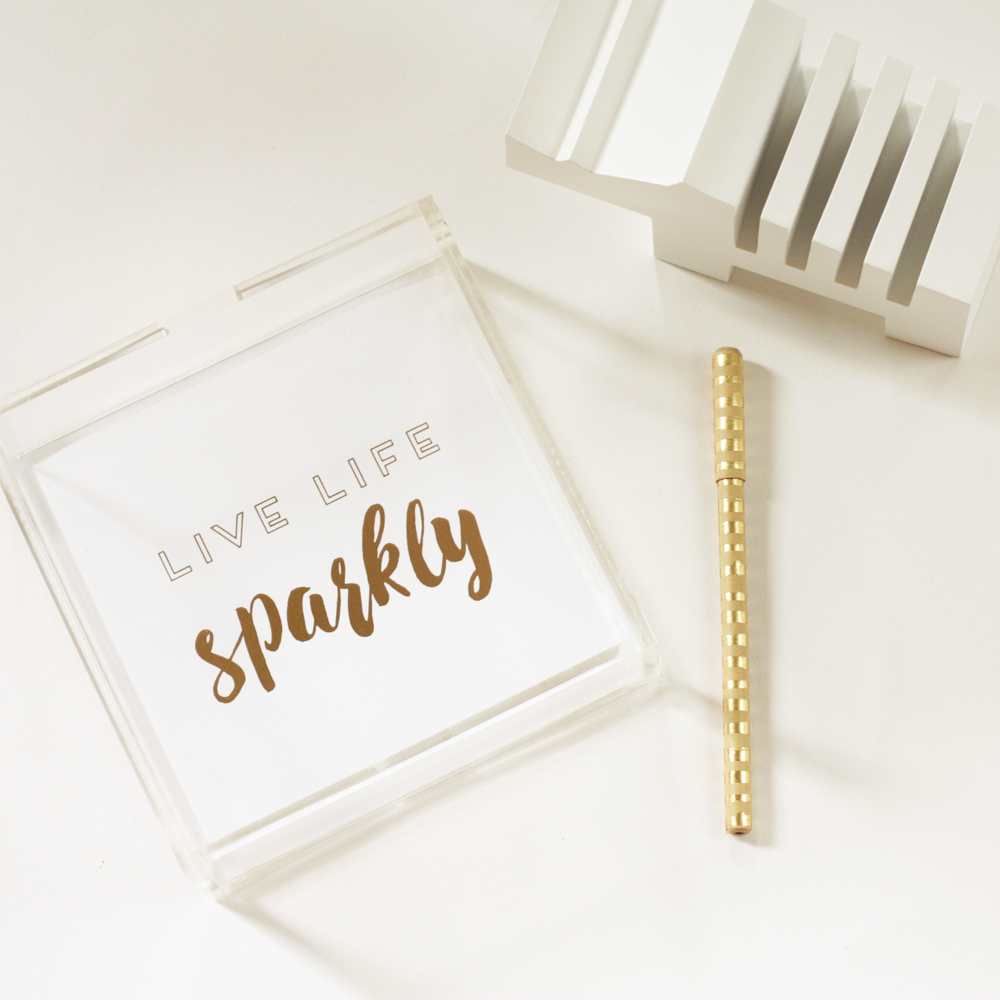 Sparkly gold foil tray