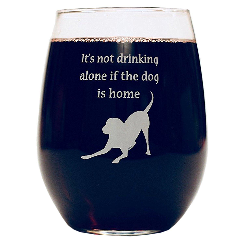 Drinking alone wine glass