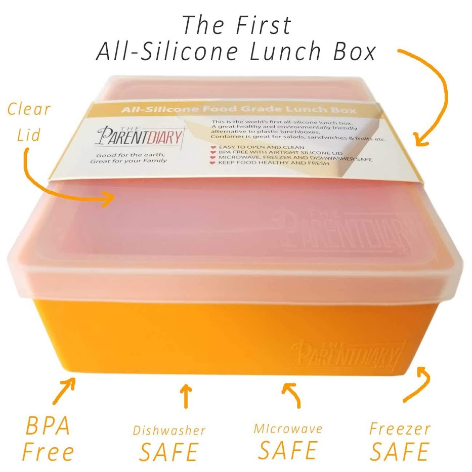The parent diary lunch box orange5