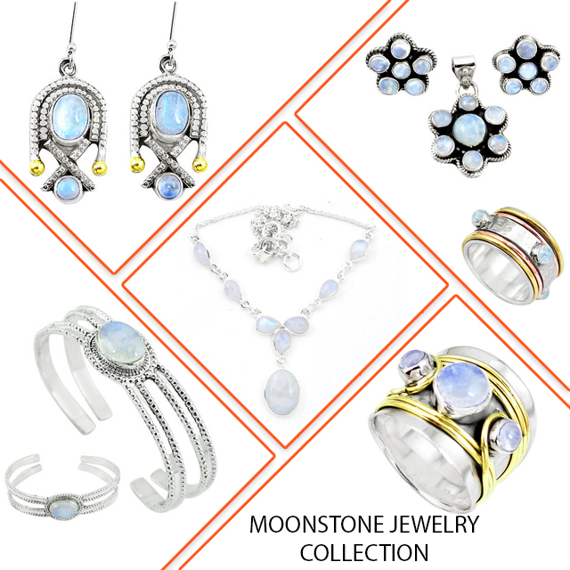 Moonstone jewelry collection