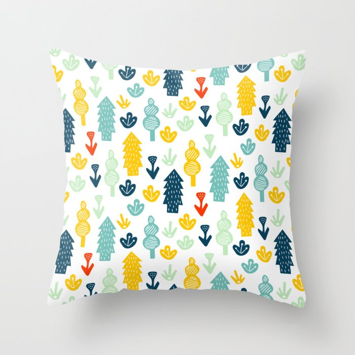 Little tot scandinavian forest pillows