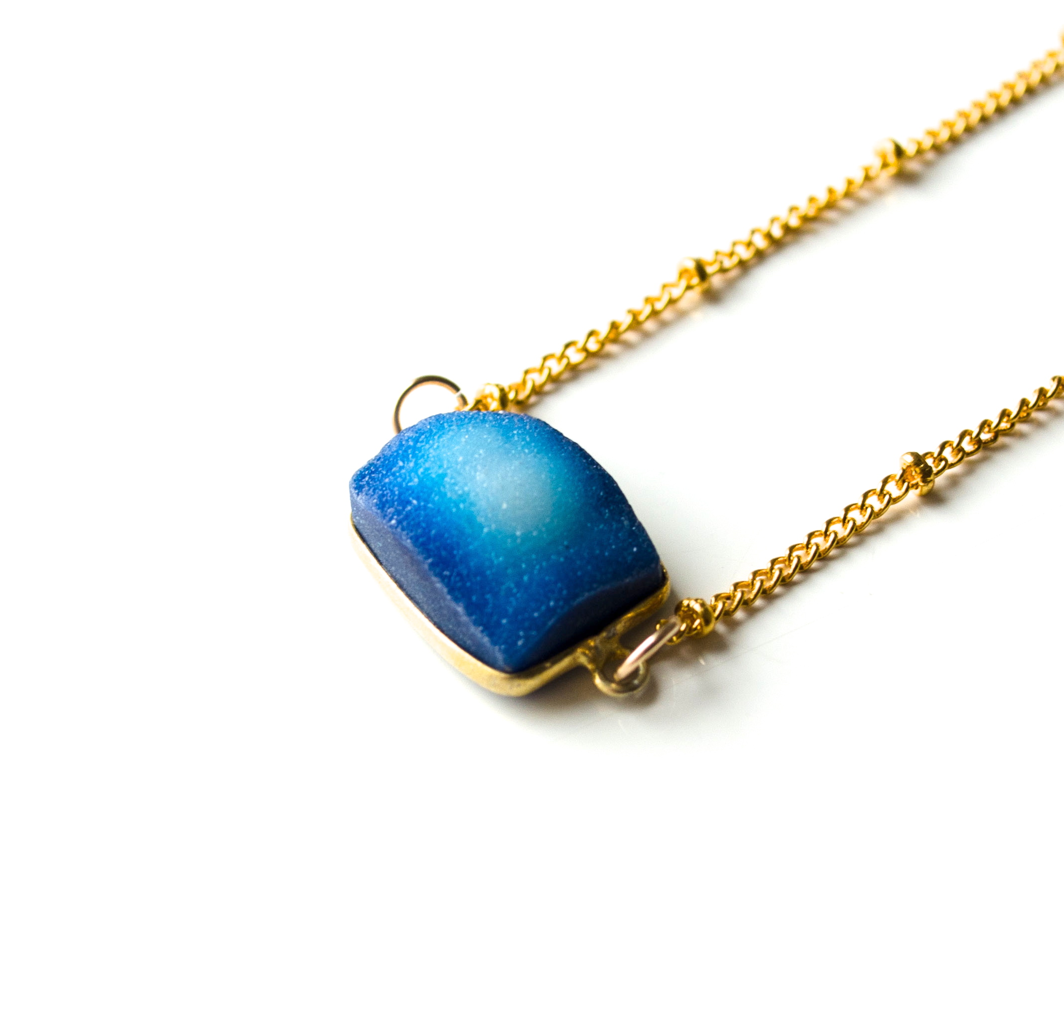 Druzy square necklace 4  1 of 1