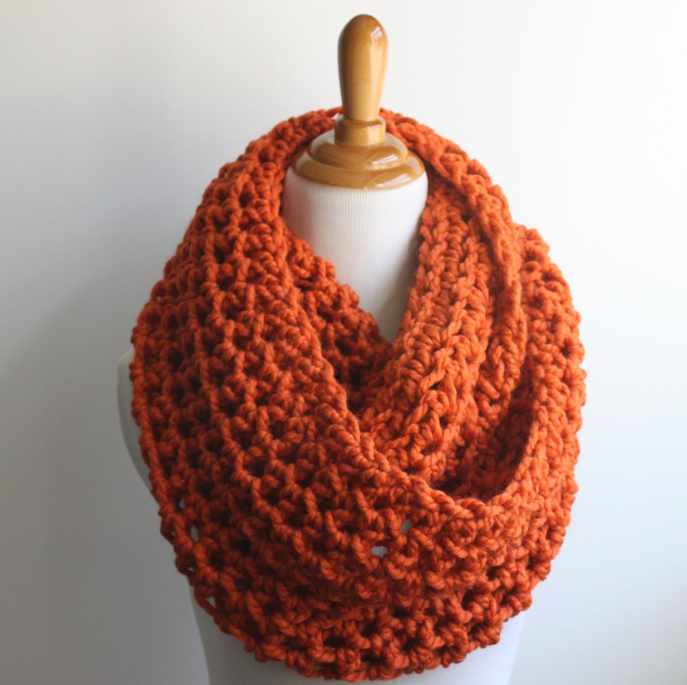 1 1 infinity scarf  pumpkin