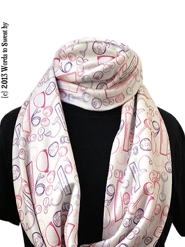 Infinity scarf weightlifting wordstosweatby 72 store