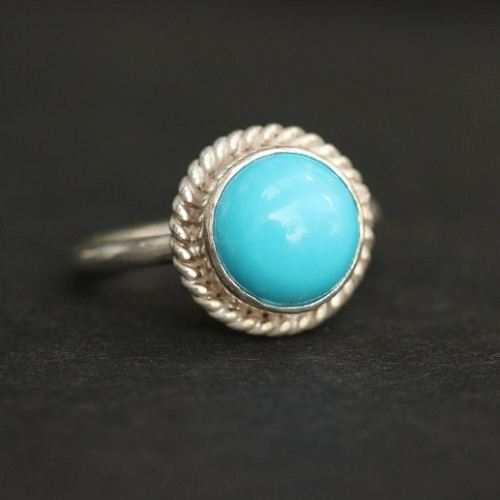Turquoise ring statement ring bezel 34946 1 3